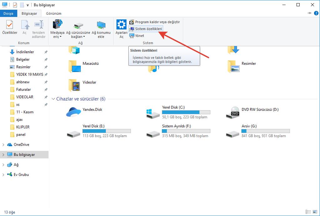 Windows 7/8/8.1/10 Uyku Modu Sorunu 2