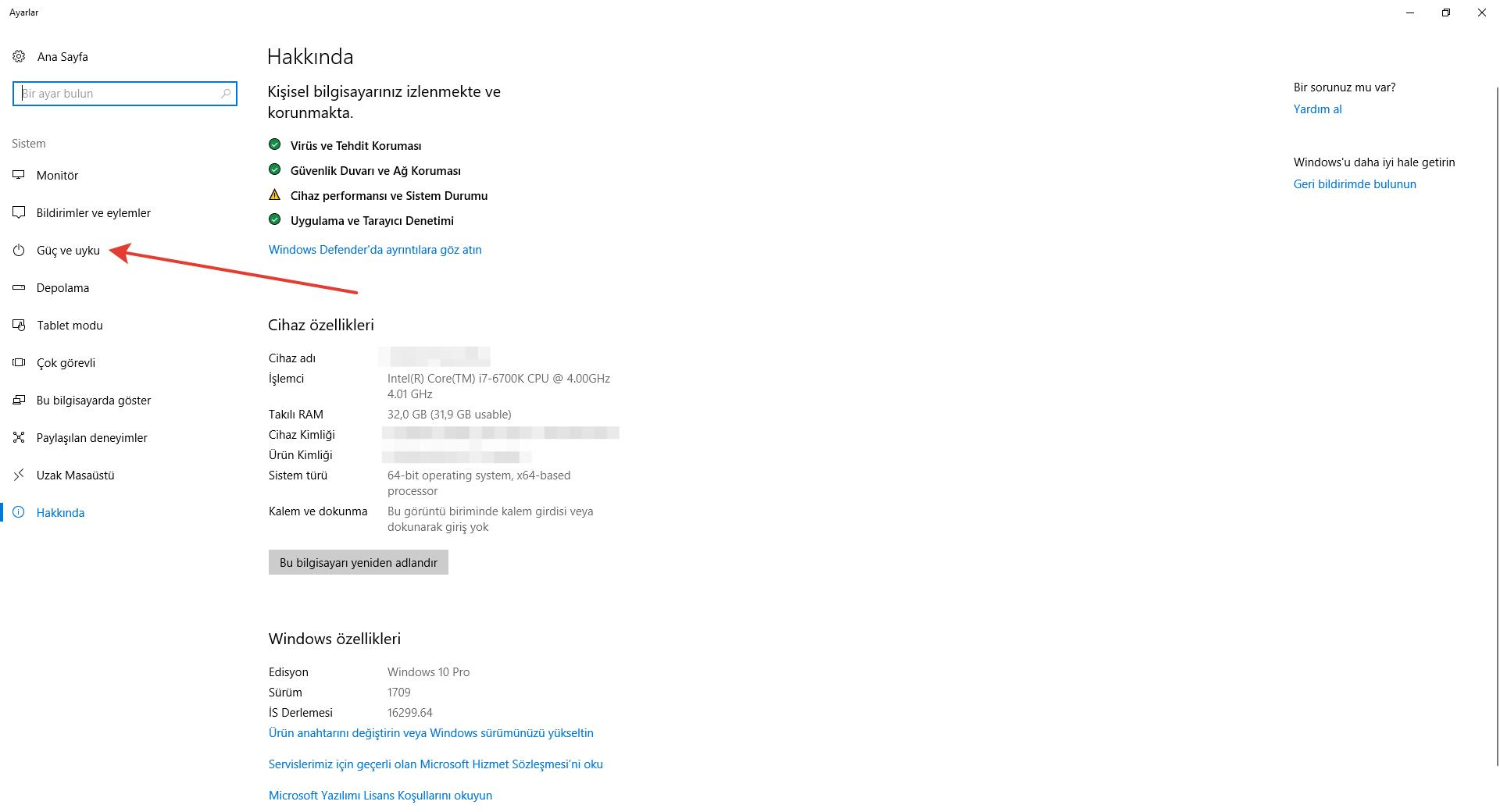 Windows 7/8/8.1/10 Uyku Modu Sorunu 3