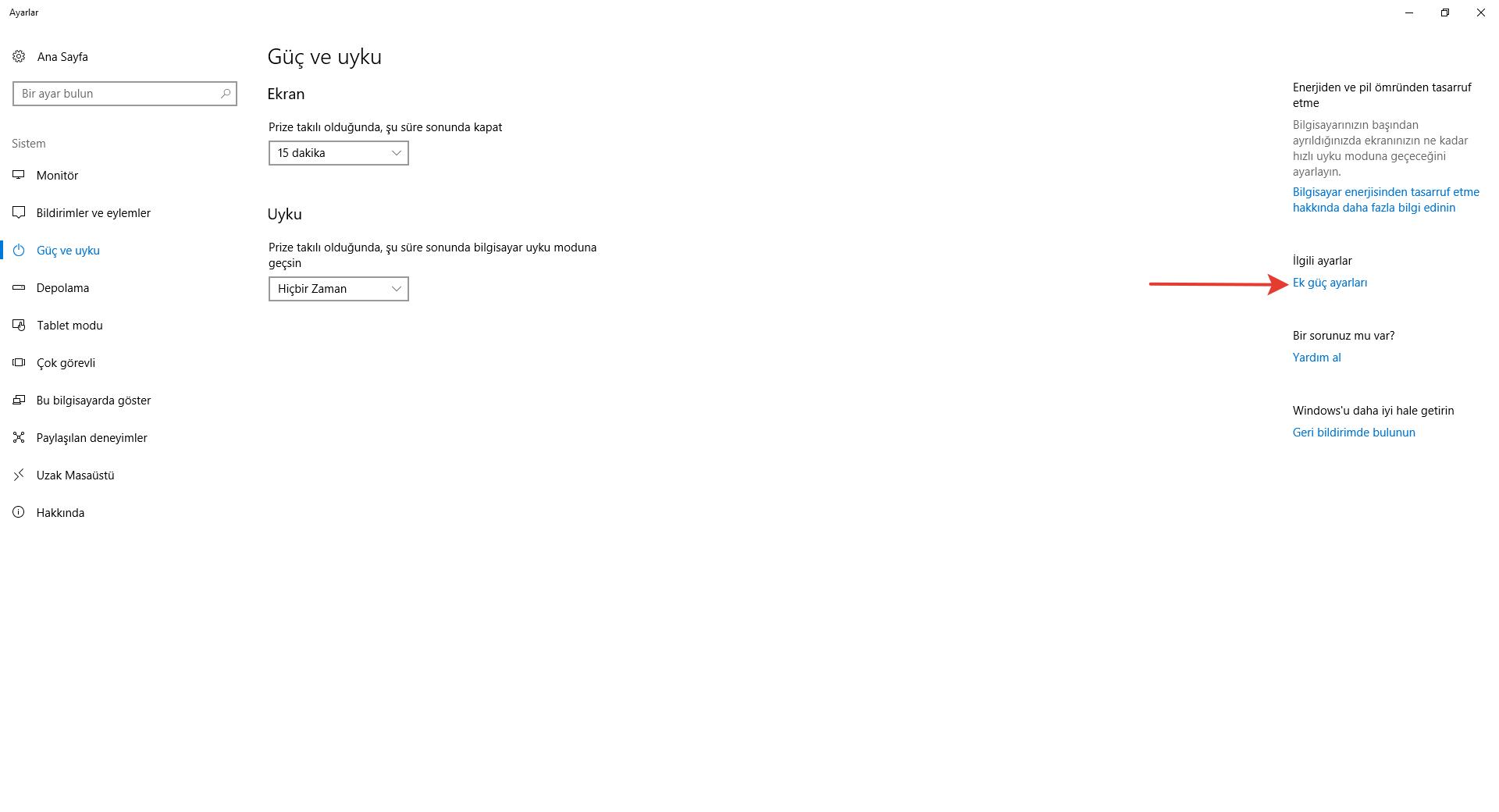 Windows 7/8/8.1/10 Uyku Modu Sorunu 4