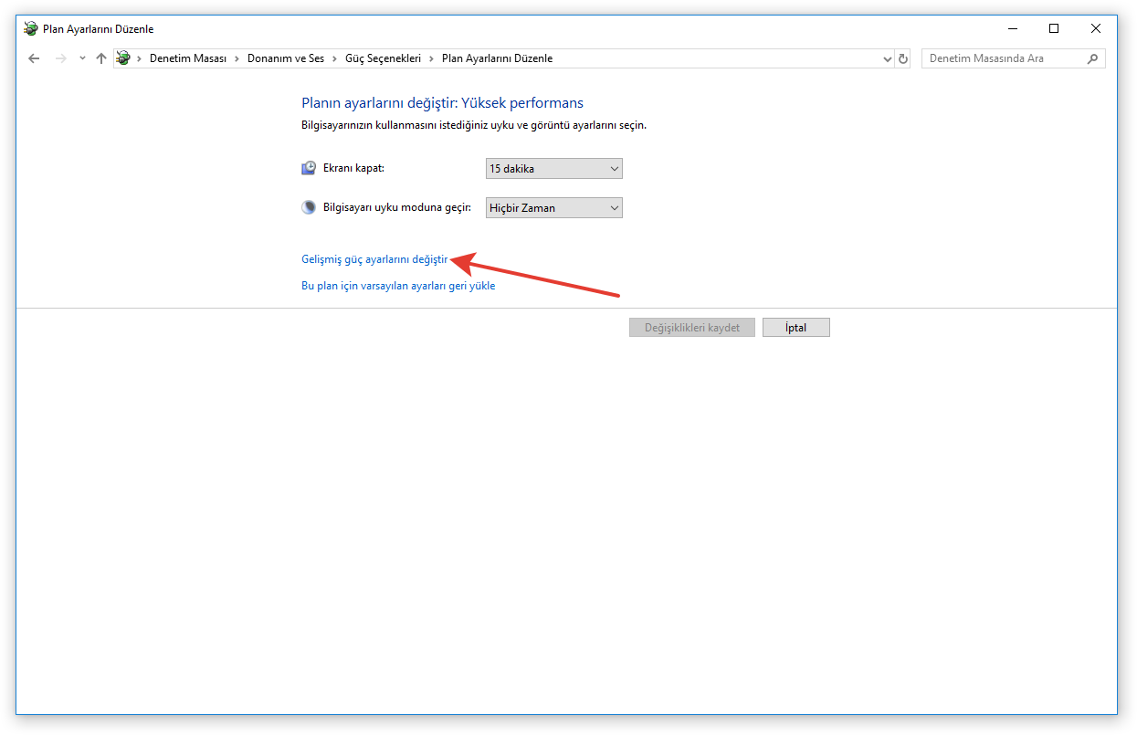 Windows 7/8/8.1/10 Uyku Modu Sorunu 6