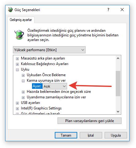 Windows 7/8/8.1/10 Uyku Modu Sorunu 7